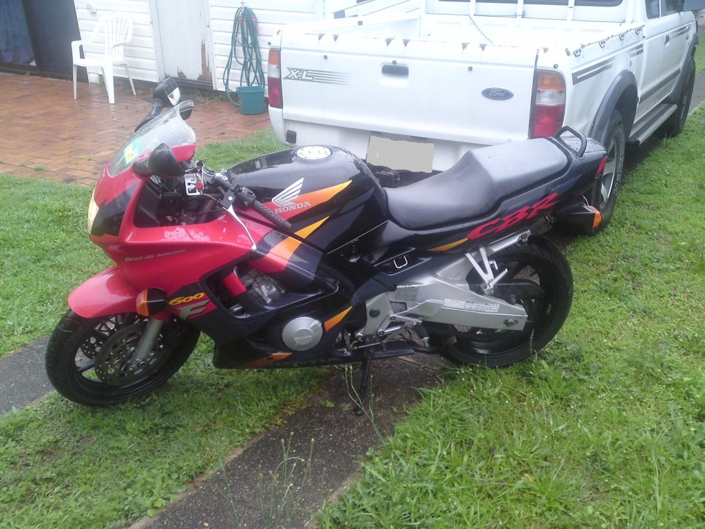 The CBR when I first bought it home