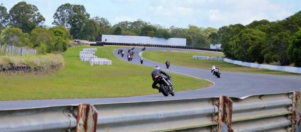 Chasing down some other riders at the Kink, a fast left hand bend at the end of the main straight, great fun!
