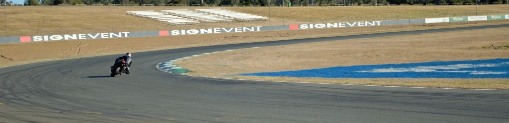 Turning into turn 1, a fun, high speed corner