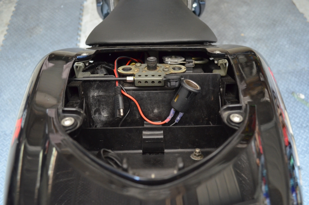 12V port installed and ready to rock